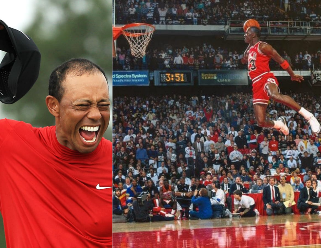 Tiger Woods Masters Win Michael Jordans Iconic Dunk Competition