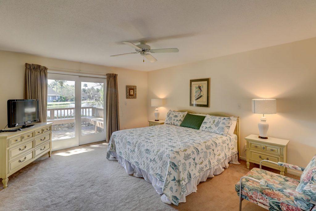 745 Queens Grant Villas - Master Bedroom with Access to Deck