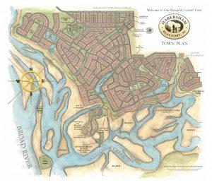 Habersham SC Town Plan Map