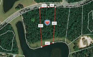 11 Yemassee Trace Rd, Satellite Map with Estimated property dimensions