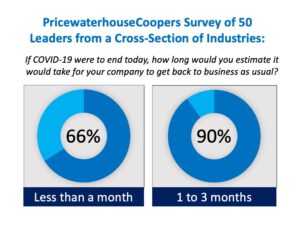 PricewaterhouseCoopers Survey of 50 Leaders from industries COVID-19