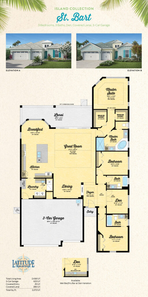 Latitude Margaritaville Hilton Head Island St. Bart Floor Plan