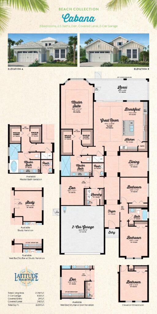 Latitude Margaritaville Hilton Head Cabana Floor Plan