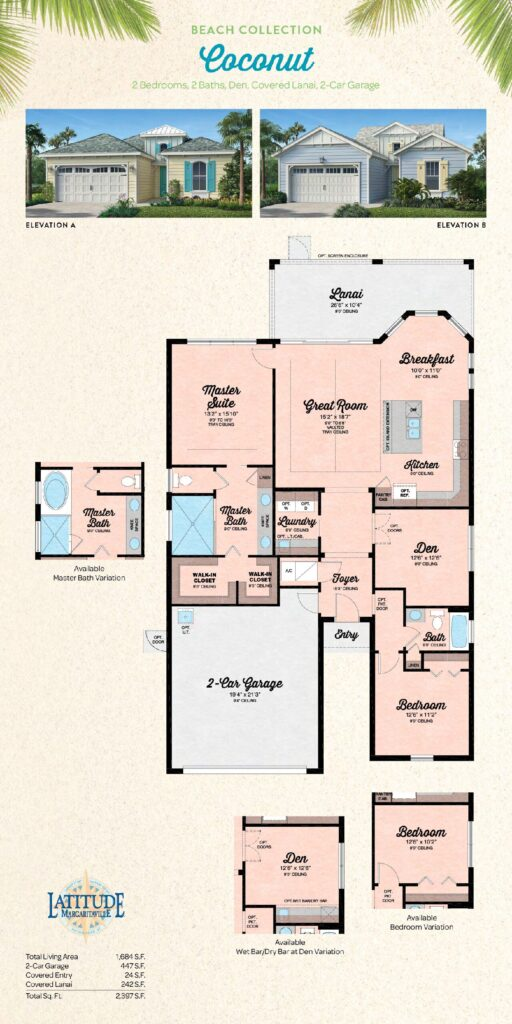 Latitude Margaritaville Hilton Head Coconut Floor Plan