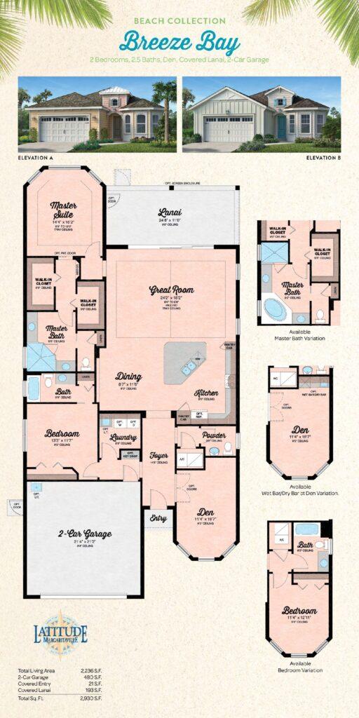 Latitude Margaritaville Hilton Head Breeze Bay Floor Plan