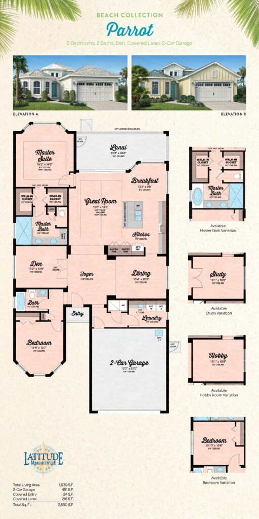 Latitude Margaritaville Hilton Head Parrot Floor Plan