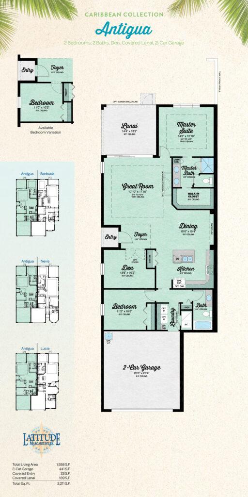 Latitude Hilton Head Antigua Villa Floor Plan