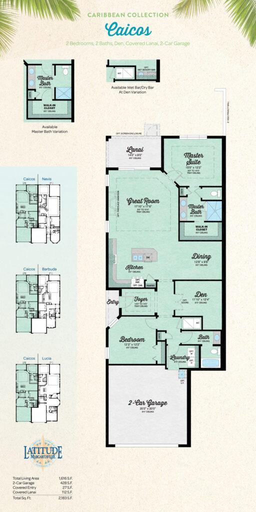 Latitude Hilton Head Caicos Villa Floor Plan