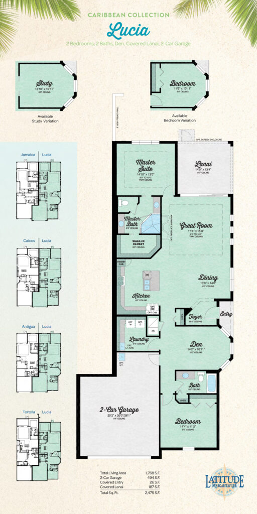Latitude Hilton Head Lucia Villa Floor Plan