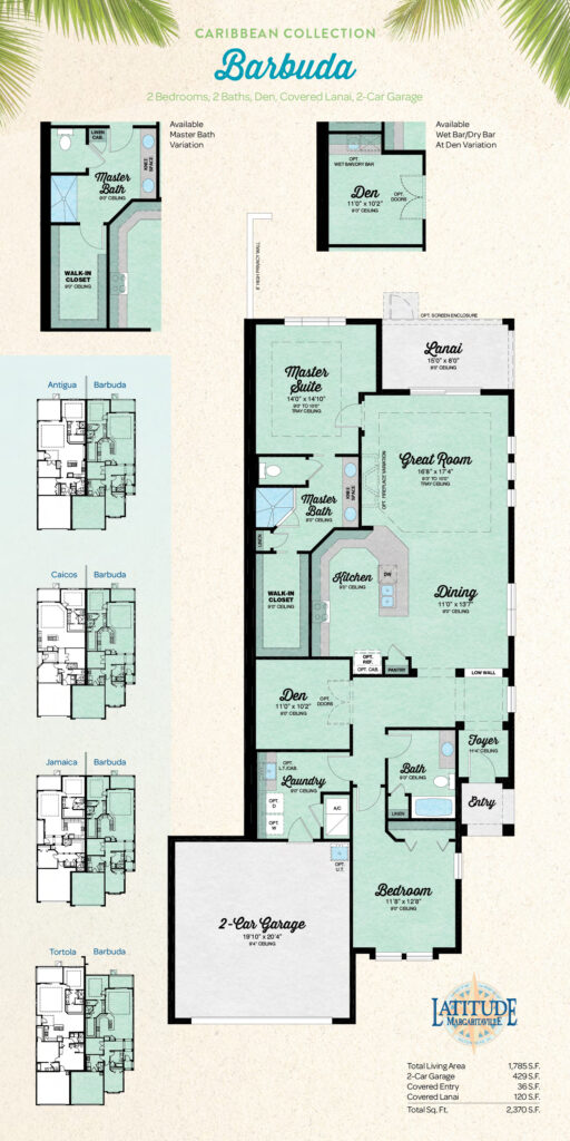 Latitude Hilton Head Barbuda Villa Floor Plan