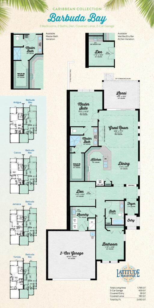 Latitude Hilton Head Barbuda Bay Villa Floor Plan