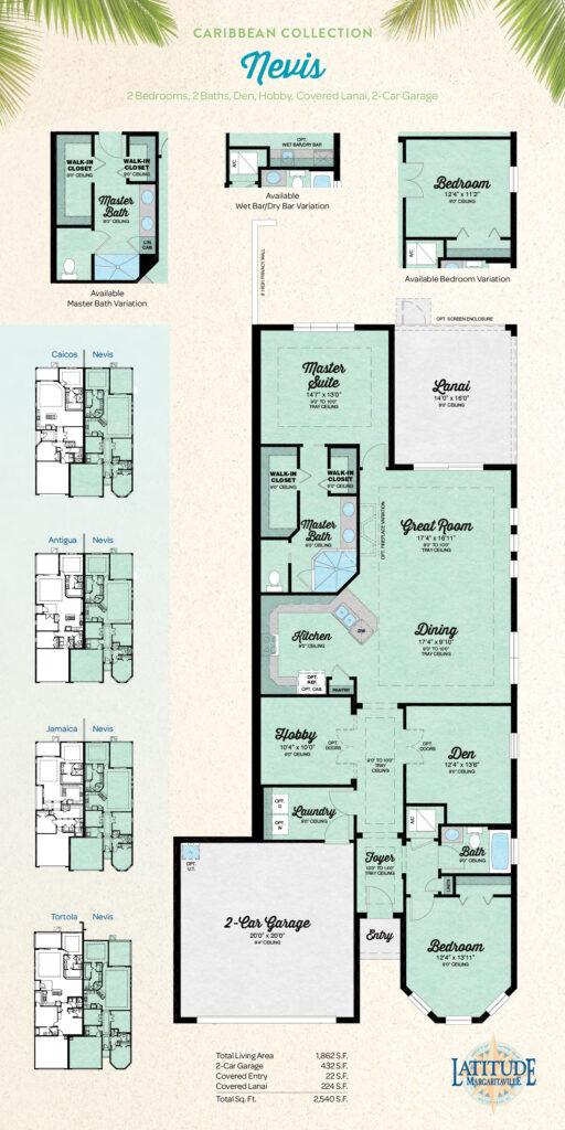 Latitude Hilton Head Nevis Villa Floor Plan