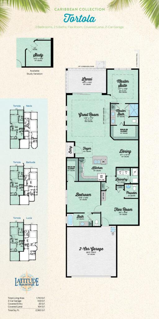 Latitude Hilton Head Tortola Villa Floor Plan