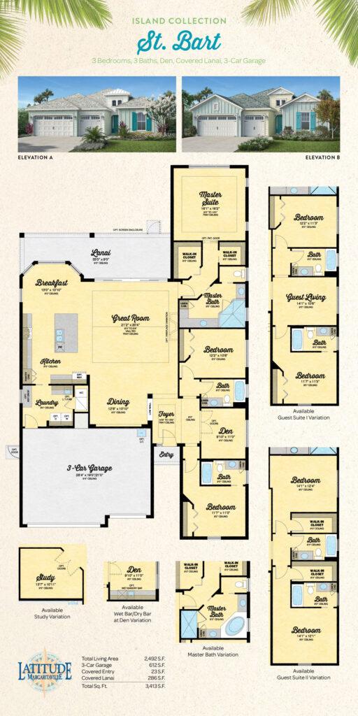 Latitude Hilton Head St. Bart Single Family Floor Plan
