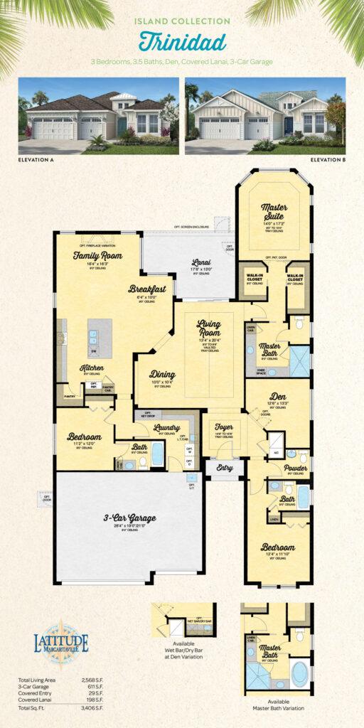 Latitude Hilton Head Trinidad Single Family Floor Plan