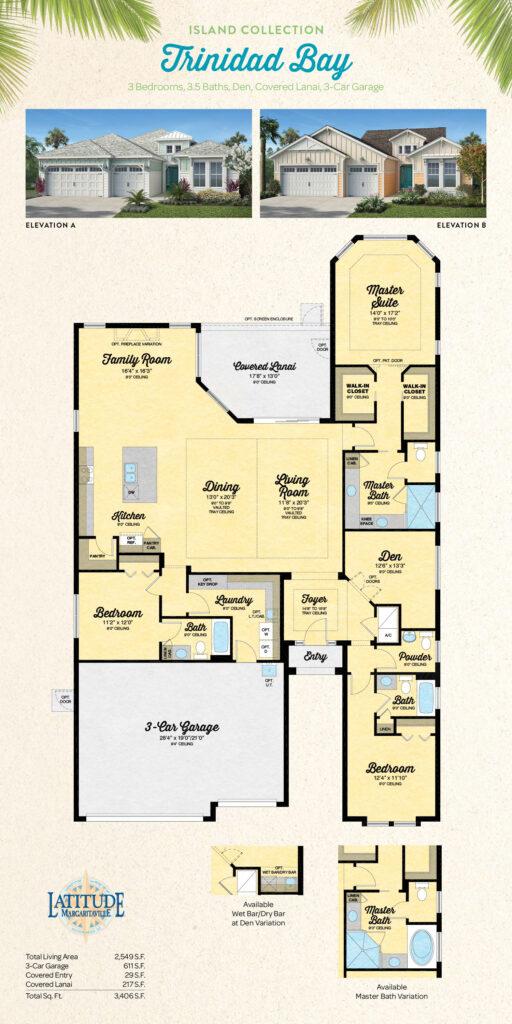 Margaritaville Hilton Head Trinidad Bay Single Family Floor Plan
