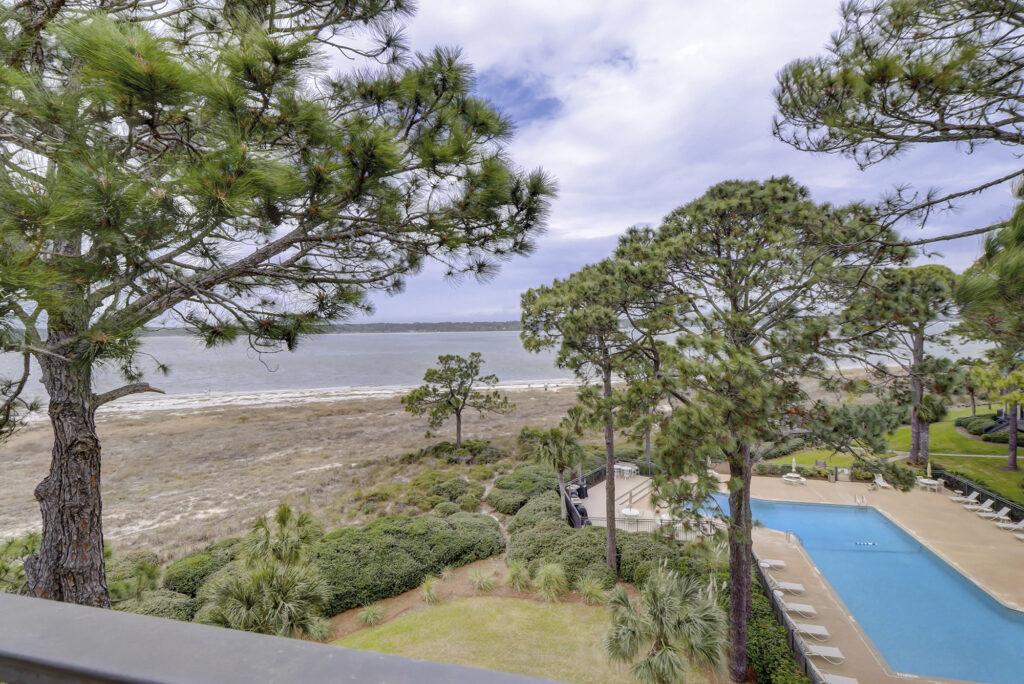 Ocean view at 1864 beachside tennis villas