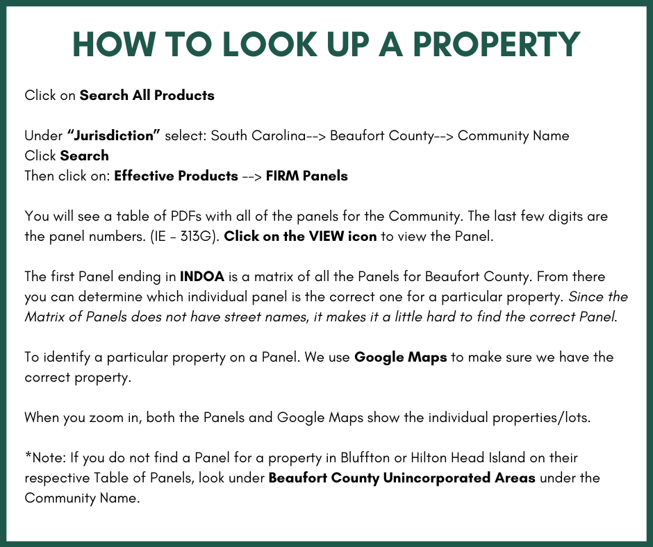 How to look up a property FIRM