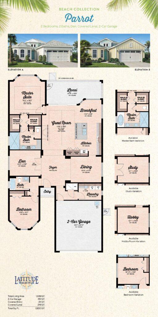 Margaritaville Hilton Head Parrot Single Family Floor Plan