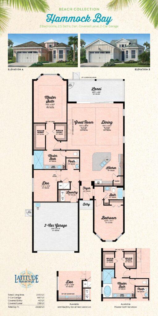 Margaritaville Hilton Head Hammock Bay Single Family Floor Plan
