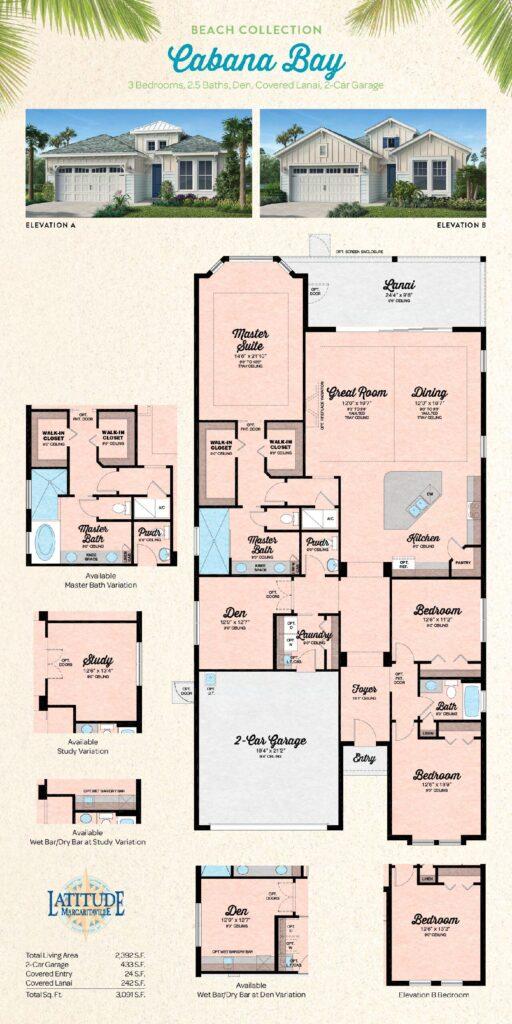 Margaritaville Hilton Head Cabana Bay Single Family Floor Plan