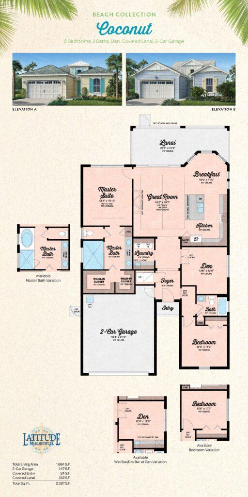 Margaritaville Hilton Head Coconut Single Family Floor Plan