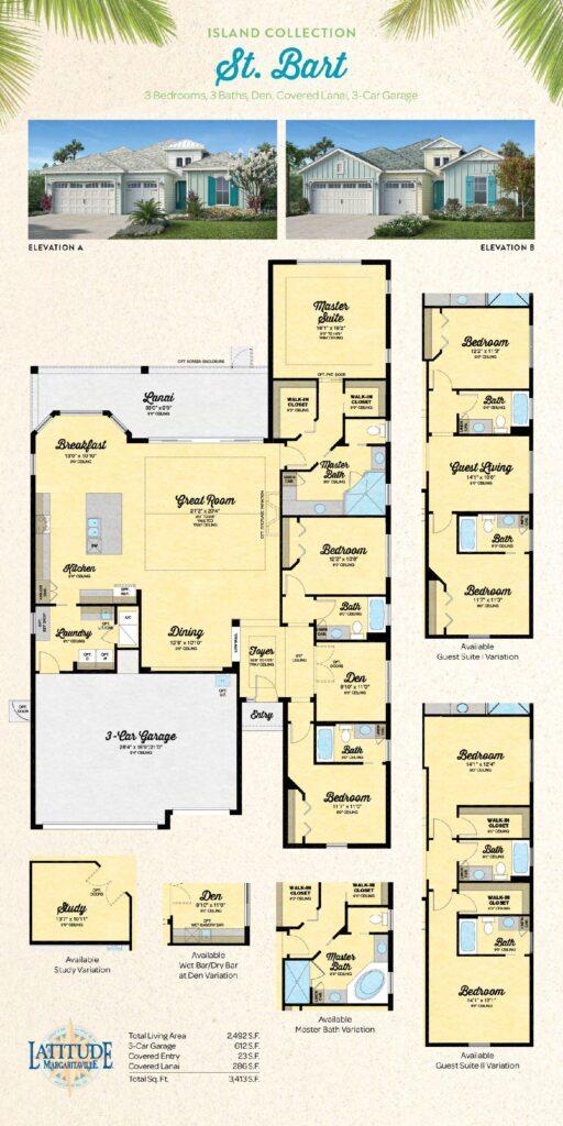 Latitude Margaritaville Hilton Head St Bart Floor Plan