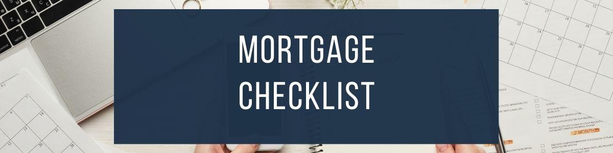 mortgage checklist