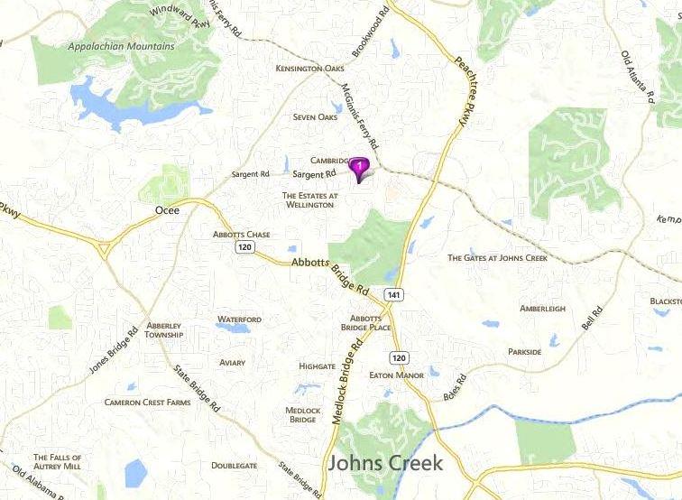 Johns Creek Map Location Of Saint Amout