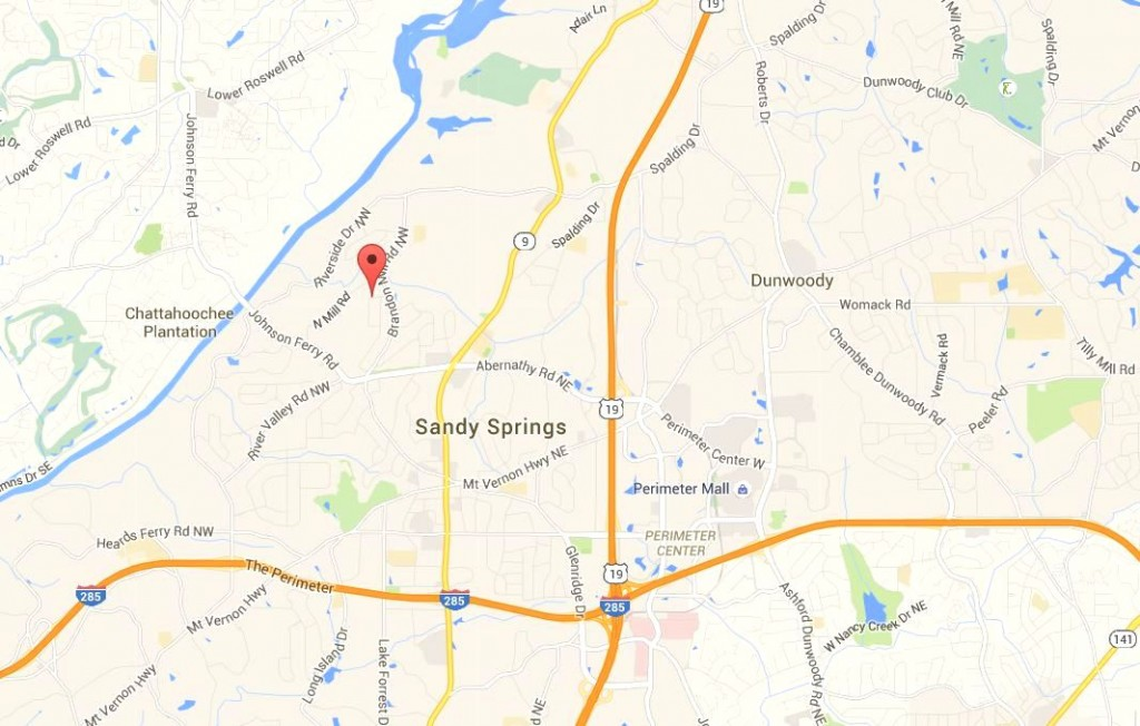 Sandy Springs Map Location Of Wyndham Hills