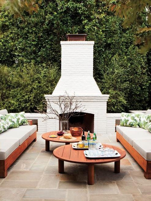 white wash fireplace