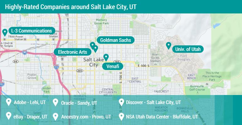 Salt Lake City Jobs Map