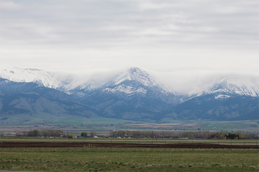 Peaceful cloudy afternoon in Gallatin Gateway, MT.