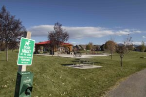 Walking Trail Park Flanders Mill Subdivision in Bozeman MT