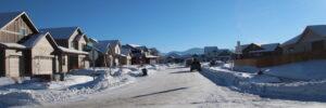 Snowy streets Meadow Creek Subdivision Bozeman MT