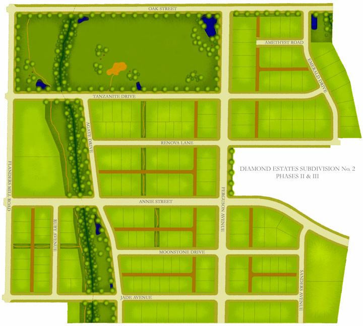 Diamond Estates Subdivision Boundaries