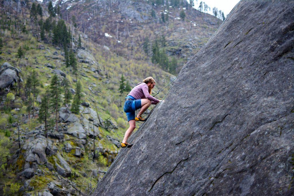 Go rock climbing in Idaho