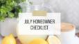 July Homeowner Checklist 2021