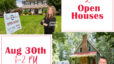 2 Open Houses Sunday 8/30 1-2 PM