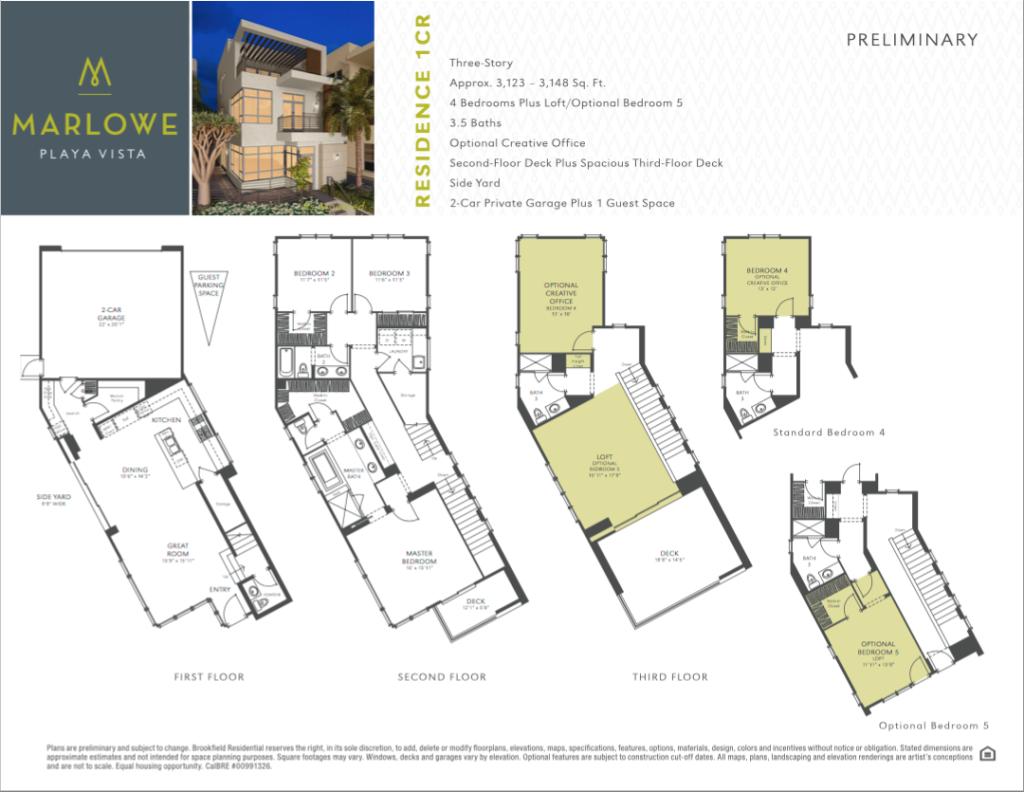 Marlowe at Playa Vista Floor Plan 1CR