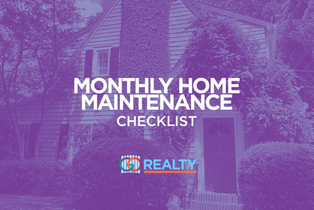 Monthly Home Maintenance Checklist