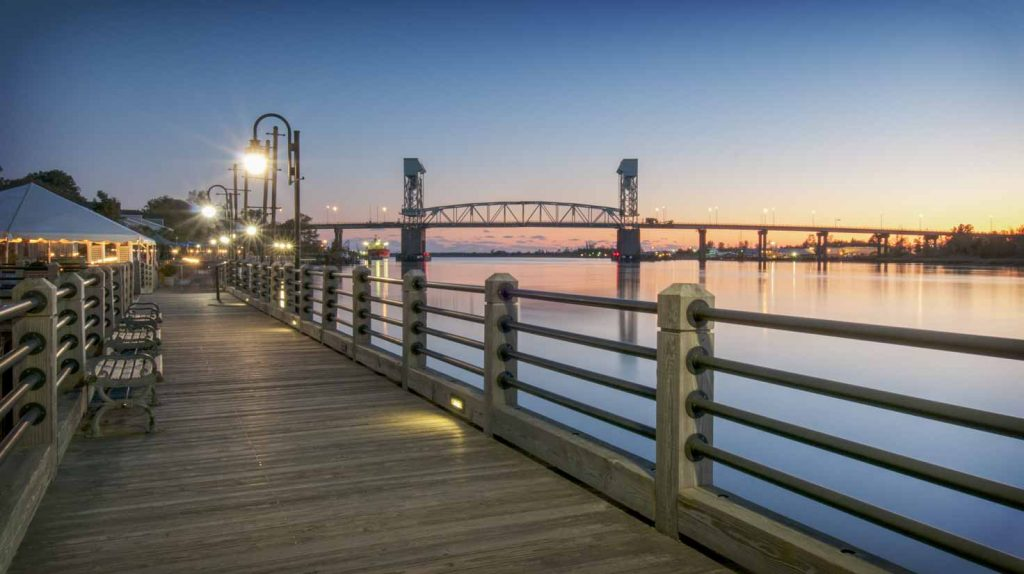 Riverwalk and bridge