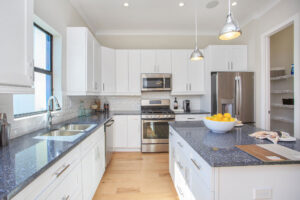 A spacious and stylish kitchen