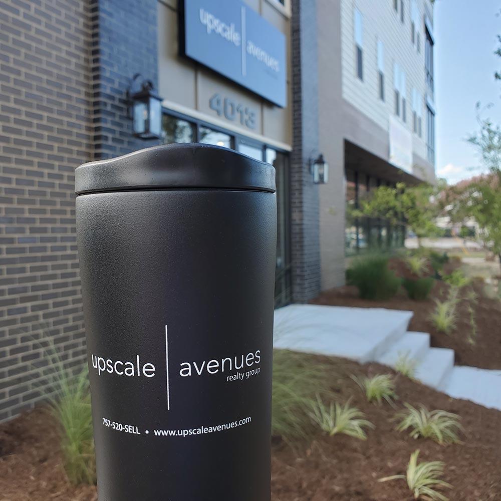 Upscale | Avenues office, travel mug, landscape