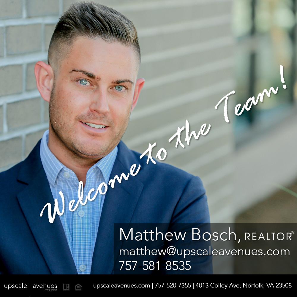Welcome To The Team - Matt Bosch