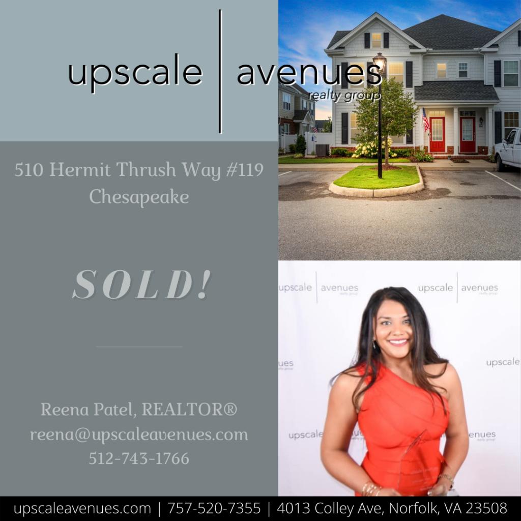 510 Hermit Thrush Way 119 Chesapeake - Sold