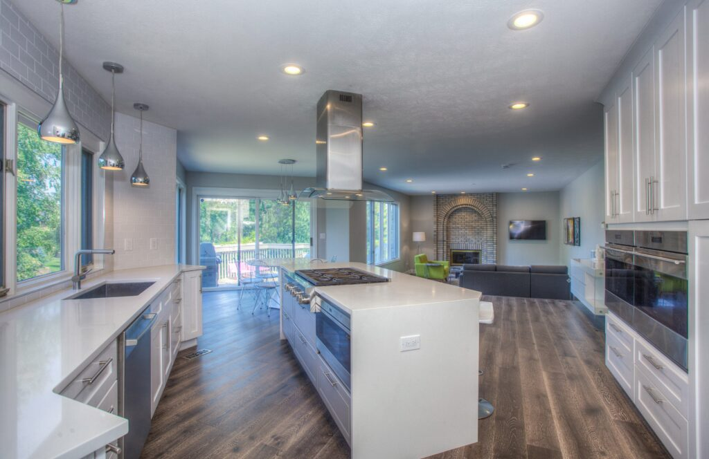 full view of modern kitchen