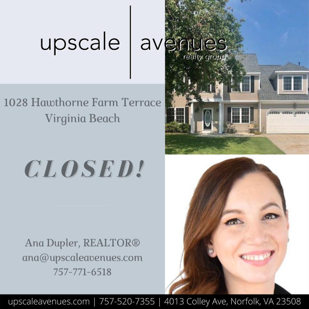 1028 Hawthorne Farm Terrace Virginia Beach - Closed