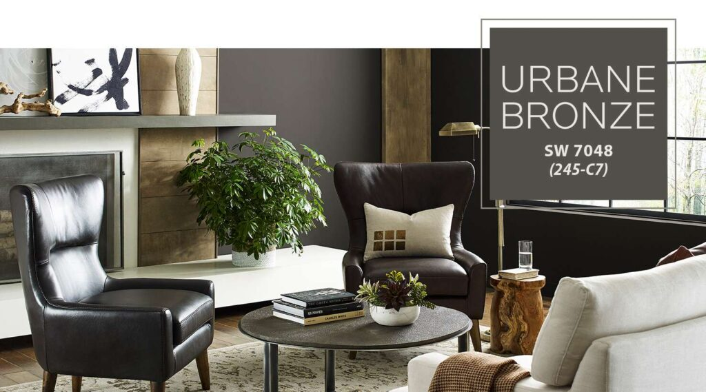 Sherwin-Williams 2021 Color of the Year- Urbane Bronze 1