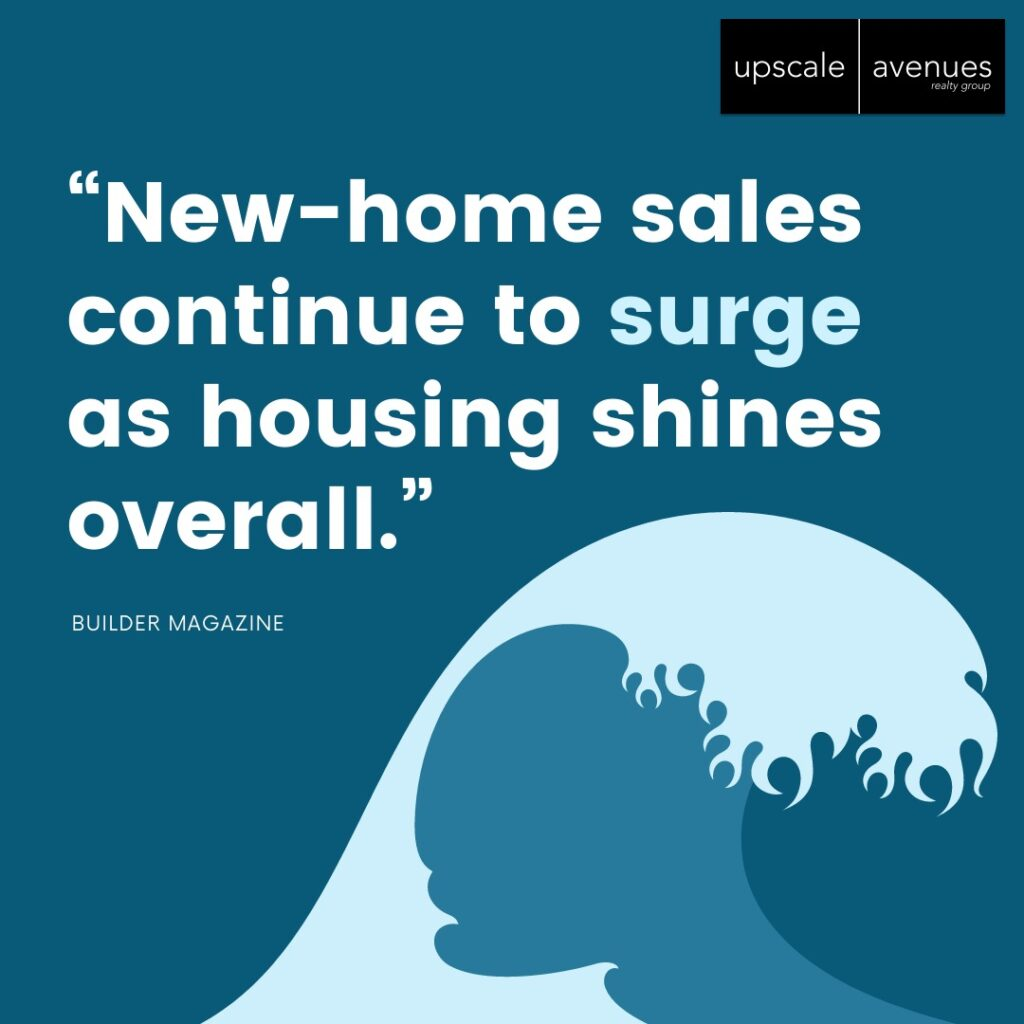 New home sales continue to surge